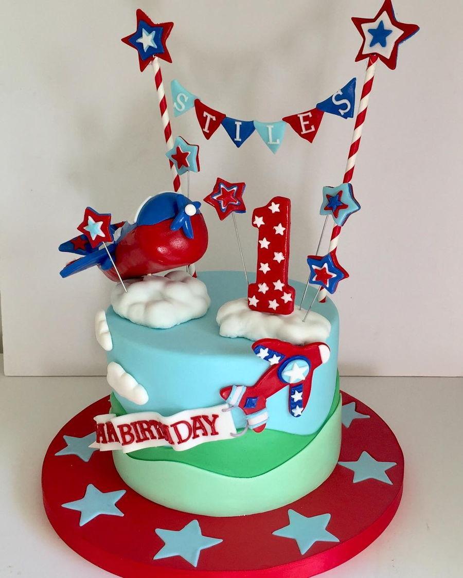 Airplane 1St Birthday Cake