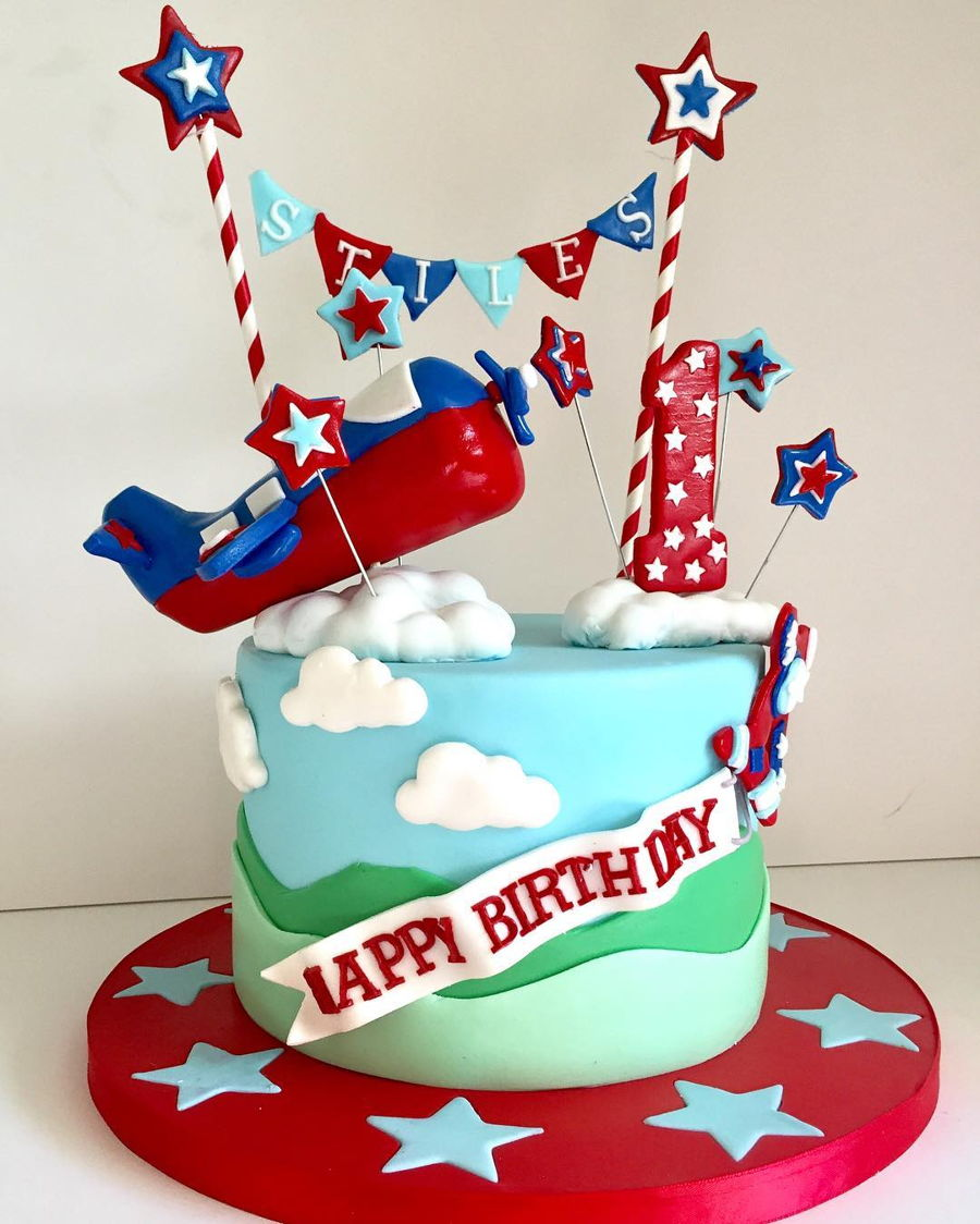 Remarkable Airplane 1St Birthday Cake Cakecentral Com Funny Birthday Cards Online Barepcheapnameinfo
