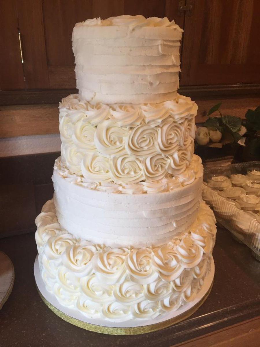 Wedding Cake Decorating Buttercream : Buttercream Wedding Cake - CakeCentral.com