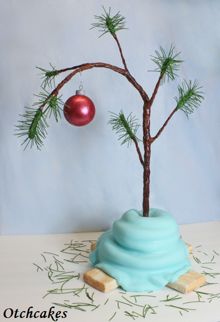 Charlie Brown Christmas Tree Cake - CakeCentral.com