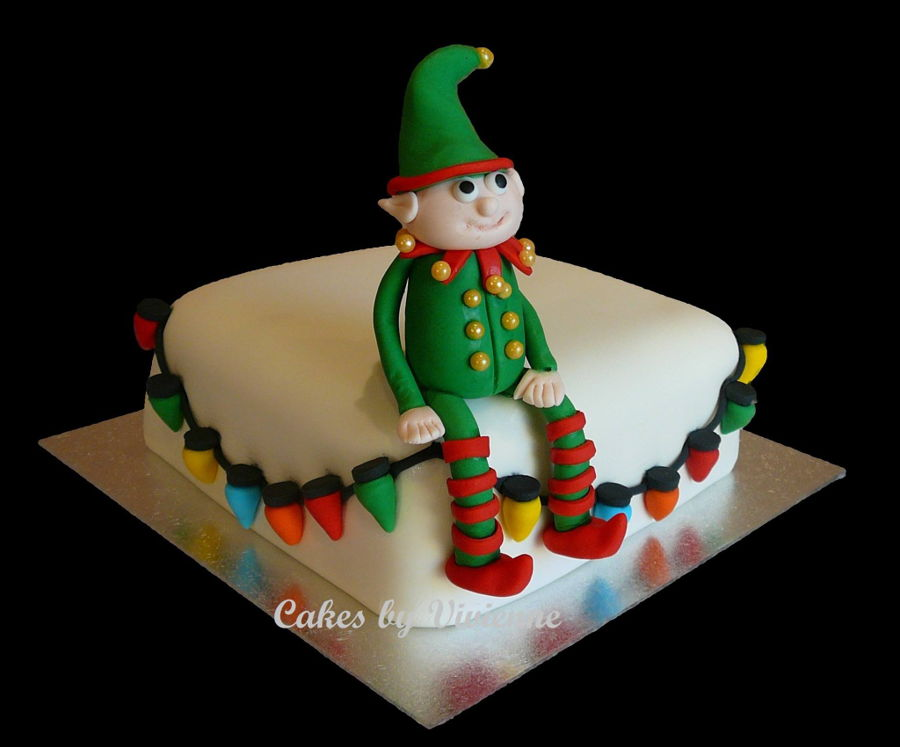 Elf Birthday Cake