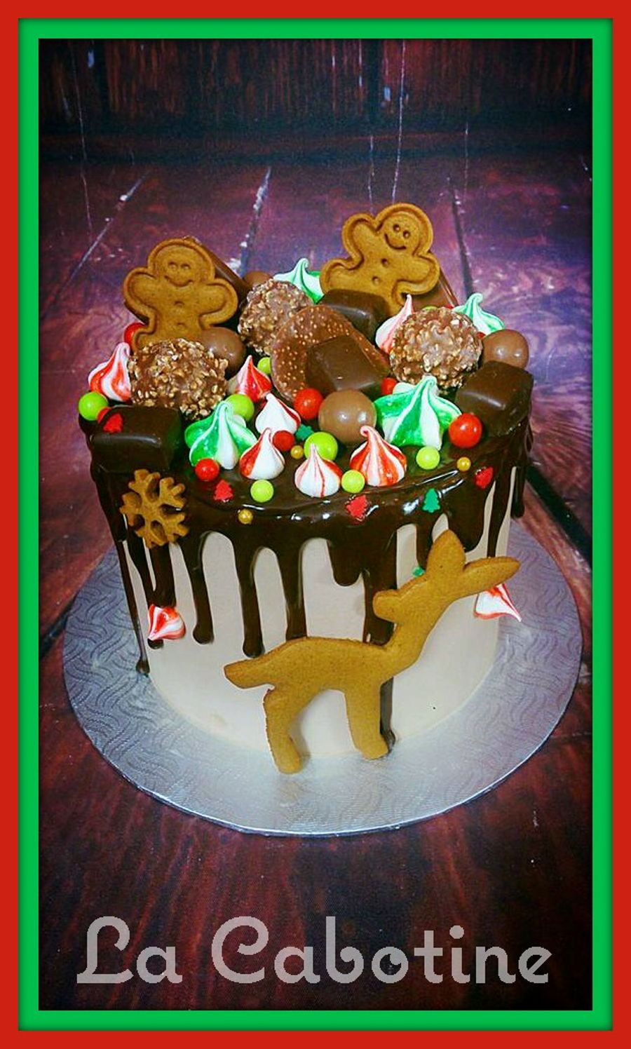Drip Cake Christmas on Cake Central
