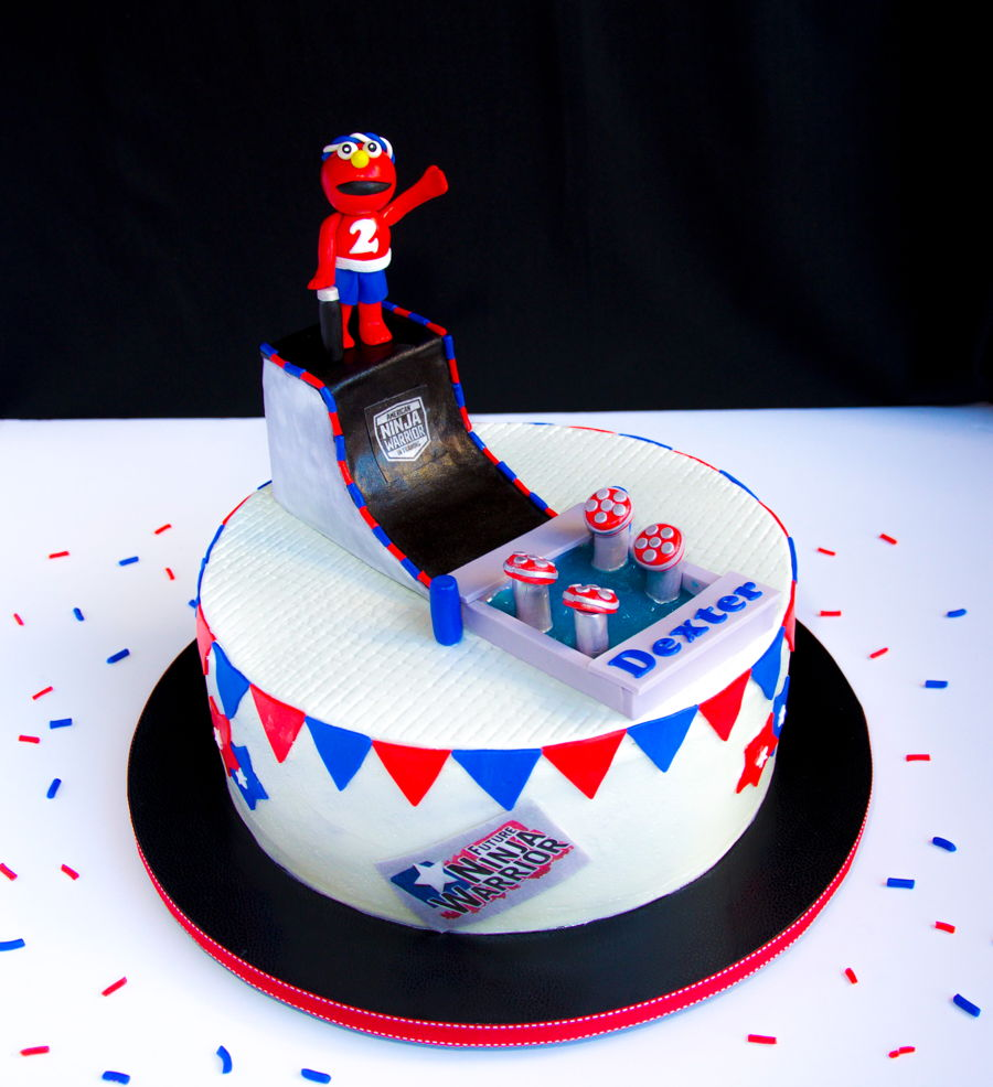 Elmo Ninja Warrior Birthday Cake Cakecentral Com