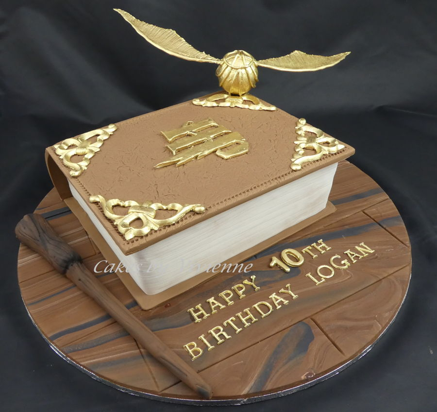 Harry Potter Book Cake ~ Harry potter book cake cakecentral