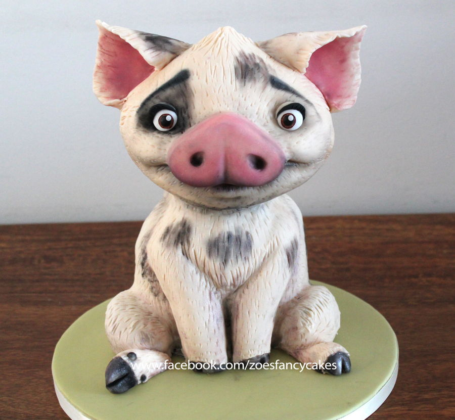 moana 3d cake of pua the pig cakecentral com
