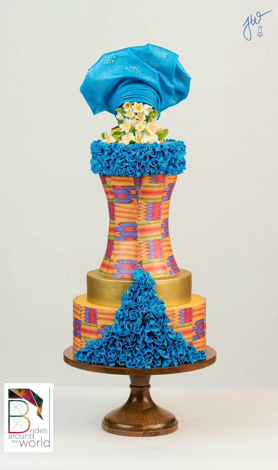 Modern Ghana Bridal Gown Cake - CakeCentral.com