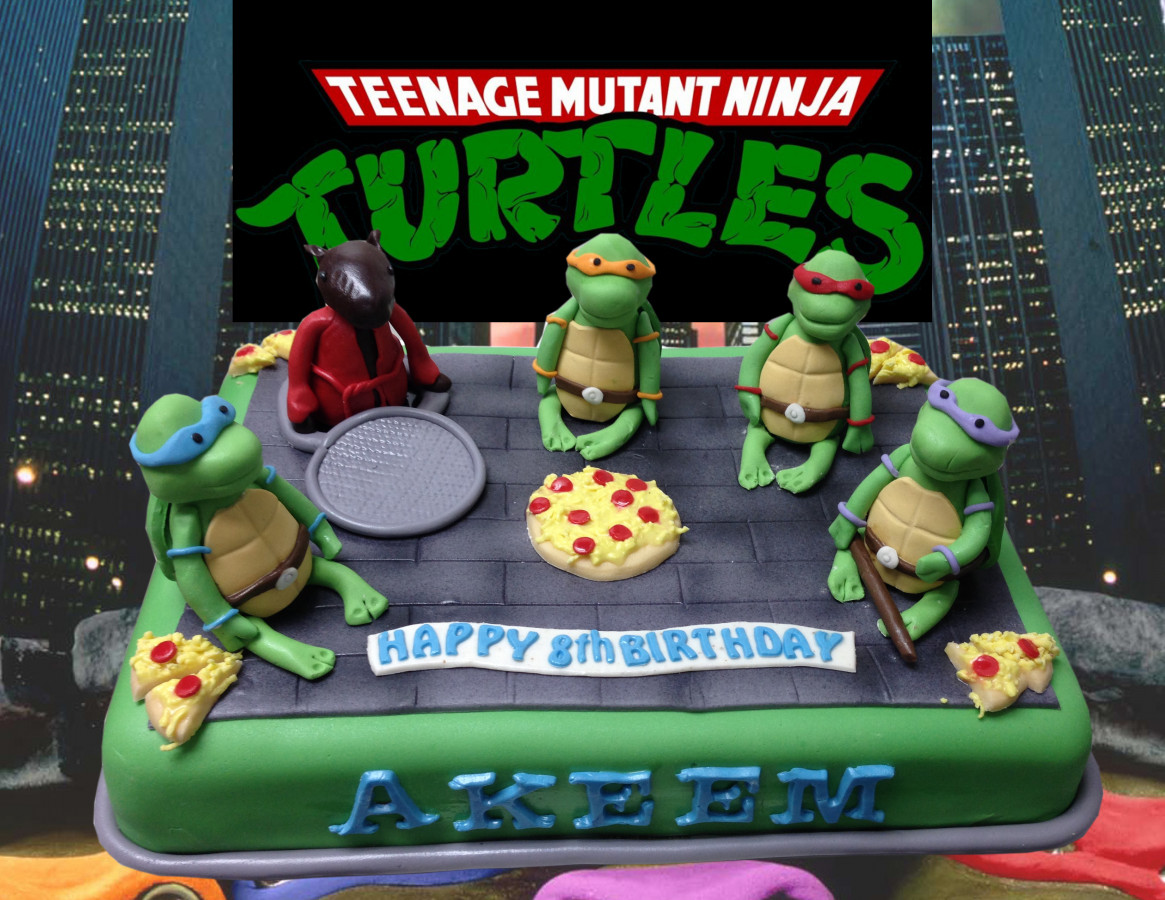 Ninja Turtles Cake   Teenage Mutant Ninja Turtles birthday cake