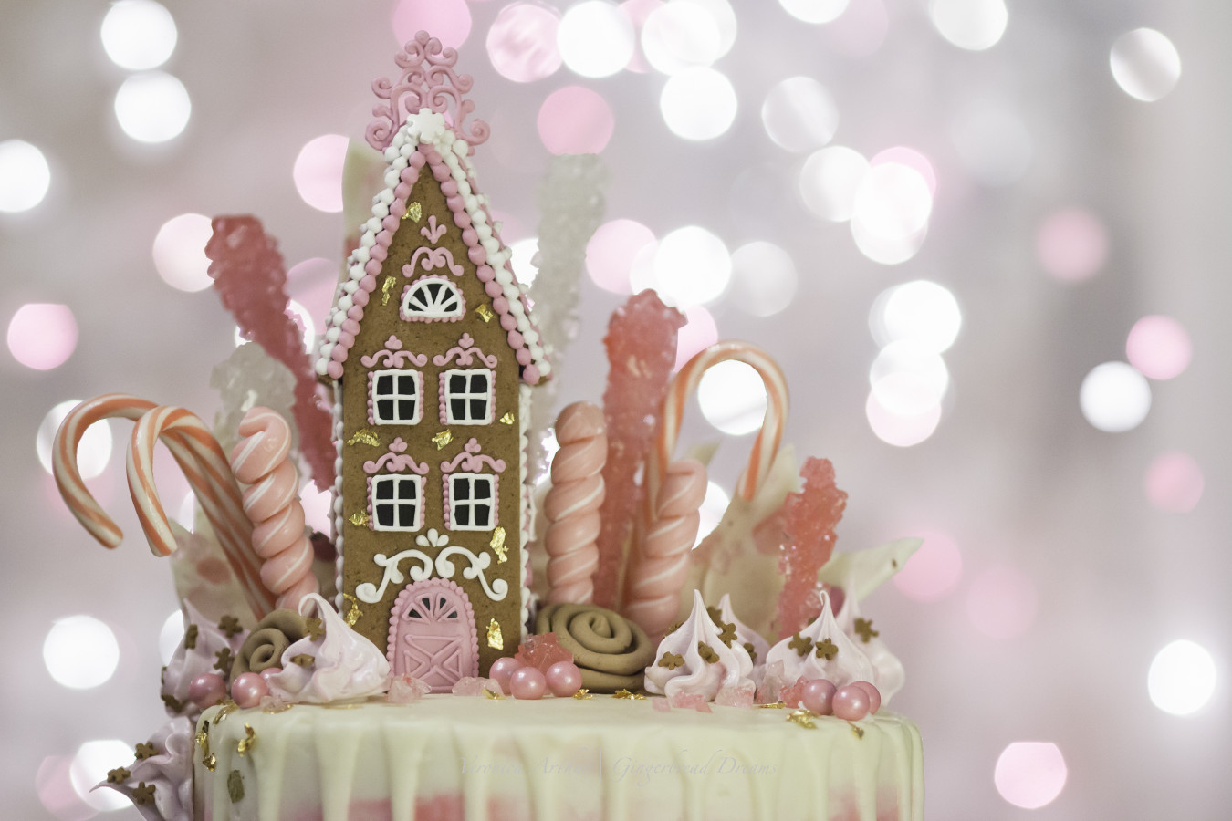 Pink Gingerbread Drip Cake Cakecentral Com