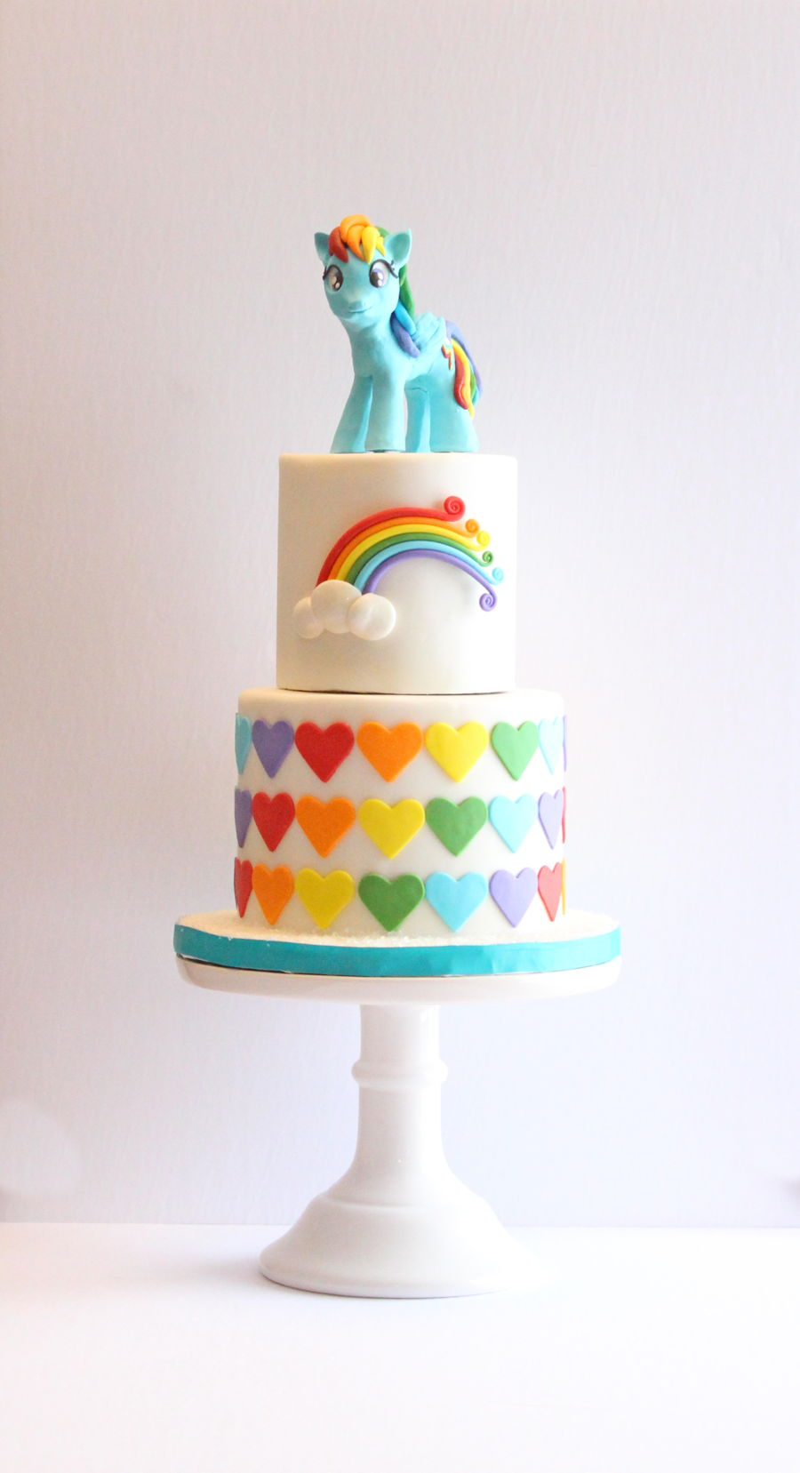 Rainbow dash cake for Rainbow dash cake template