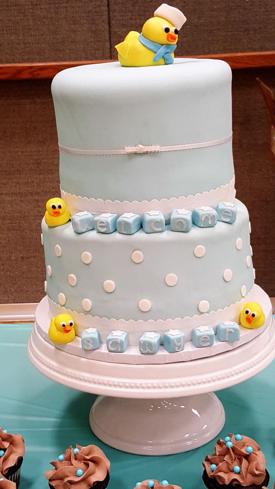 Rubber Ducks On Wedding Cake