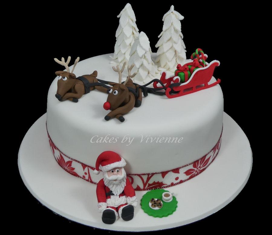 Santa Taking A Break Cakecentral Com