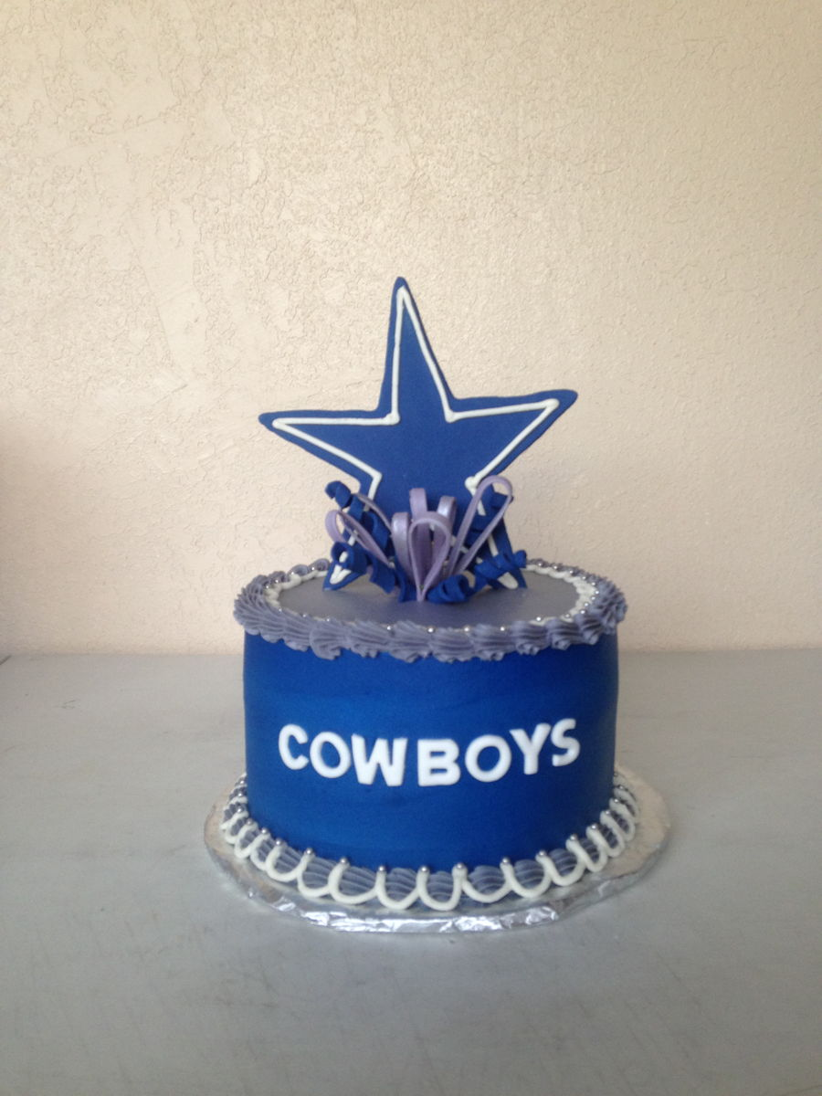 Dallas Cowboys Baby Shower Cake