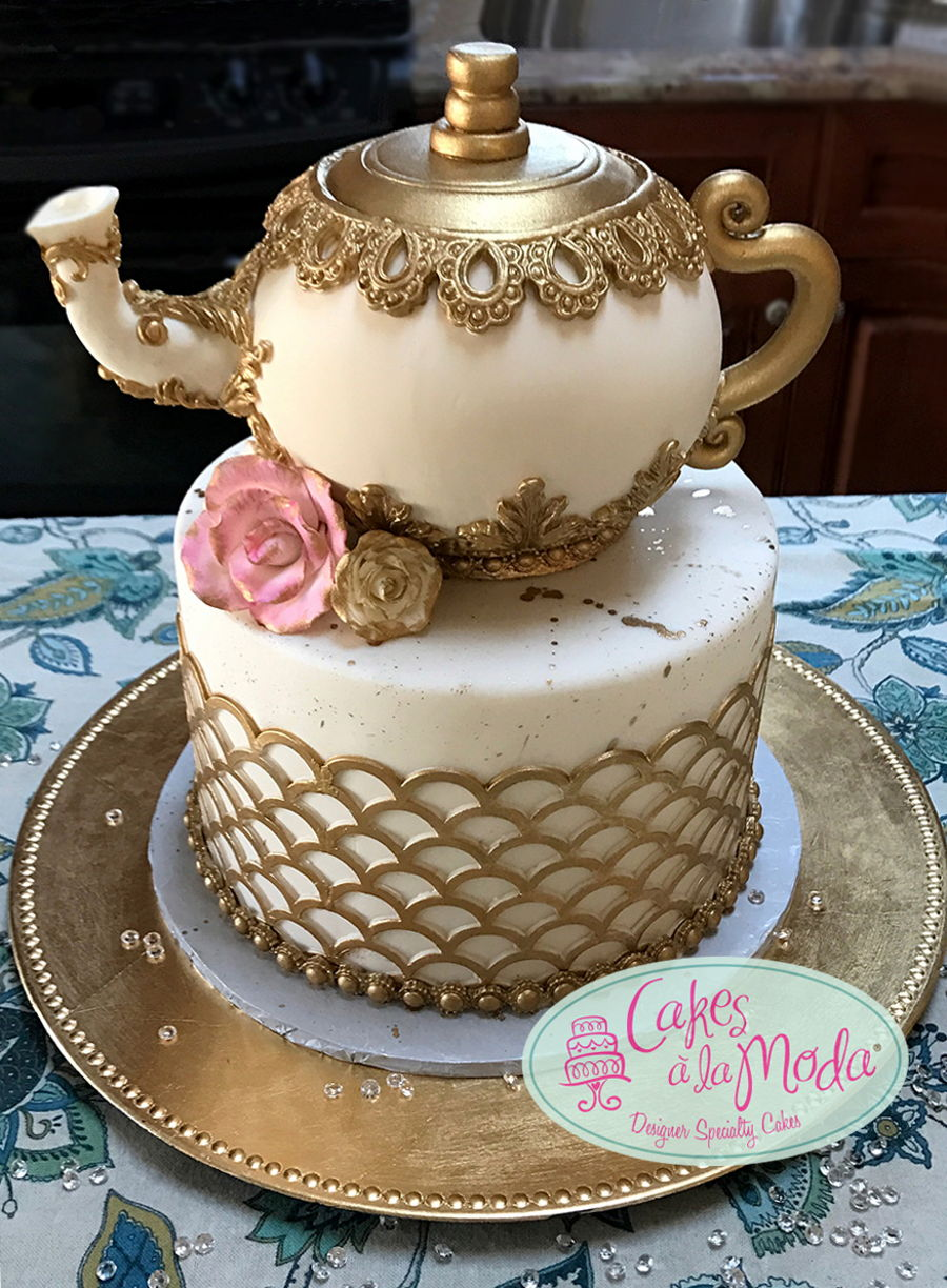 Tea Pot Cake For Tea Party Cakecentral Com