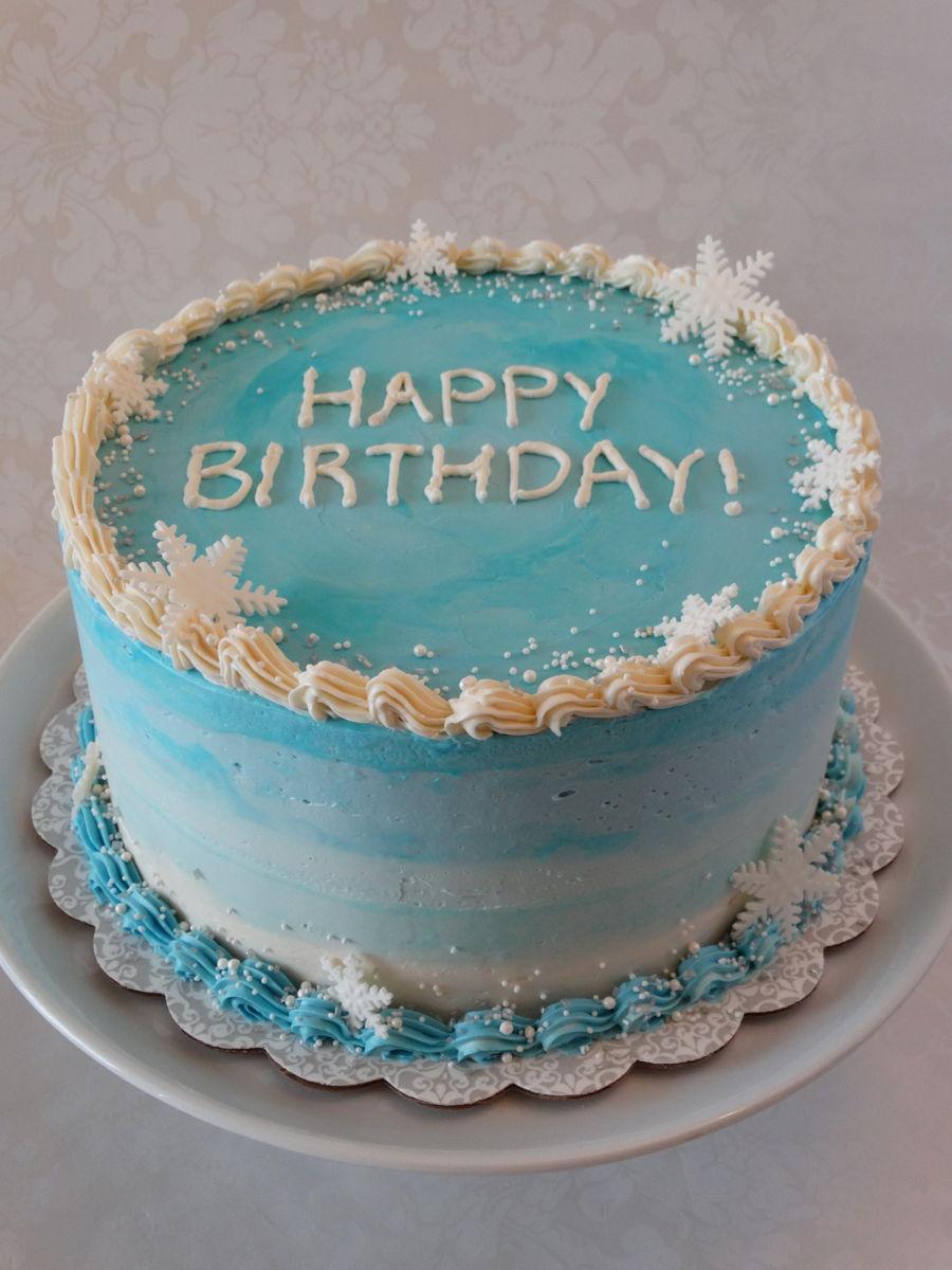 Winter Birthday Cake Cakecentral Com