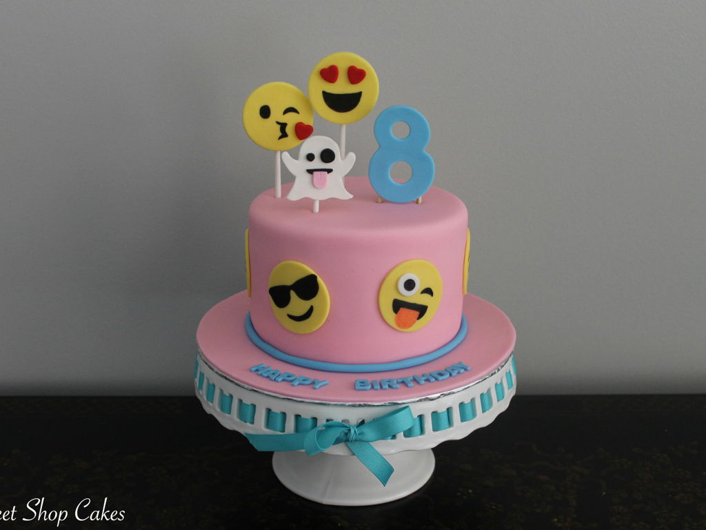 Emoji Themed Birthday Cake