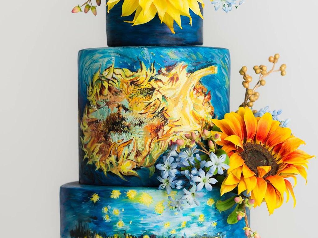 Van Gogh Wedding Cake - CakeCentral.com