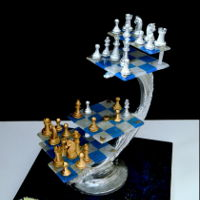 3D Chess Invited to contribute a project using Simi Isomalt...wouldn't say no! I had my heart set on showing everyone that Sidney's...