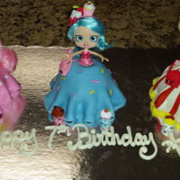 7Th Birthday Cake For A Shopkins Loving Kid! MMF covered chocolate cakes
