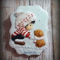 A Boy And A Dog ---- A Small Pictorial On How Did I Make It! A royal icing decorated cookie, with step by step.