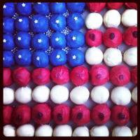 American Flag Cake Pops   For a July 4th celebration