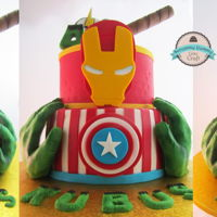 Avengers Cake   I did this cake ages ago but I hadn't enough time to put on my site...I really love it and it was easy to make with my decorations
