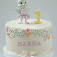 Baby Bird Cake   Created for a little girl on her 1st birthday