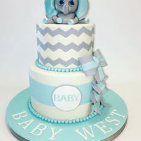 Baby Elephant Shower Cake A baby shower cake with a Elephant Theme