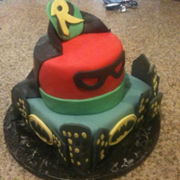 Batman And Robin Super Hero birthday cake