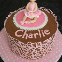 Gâteau Ballerine Au Chocolat - Chocolate Ballerina Cake Chocolate ballerina cake I've made for my niece who turned 8. Fondant ballerina topper and chocolate candy melts cage around the cake...