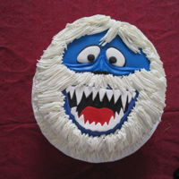 Bumble The Abominable Snow Cake Cake done for a Christmas Pary of my favourite character from Rudolph the Rednosed Reindeer. 4-layer vanilla cake with vanilla bc and...