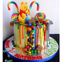 Candy Bear Theres just something about letting your imagination loose on a drip cake;) I loved the end results! ooh all that candy!!!