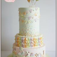 Celebration confetti & ballons celebration cake