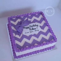 Chevron Birthday Cake yellow cake 10'' x10''