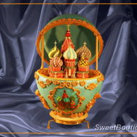 Chocolate Cake Chocolate cake inspired by Fabergé eggs and Russia St.Basil temple Blessed in Moscow. The cake is 55 cm high and stands on pad...