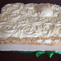 Christmas Cake Carrot Cake, Dried fruit & walnut filling, Cream Cheese Frosting