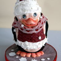 Christmas Penguin   3d cake