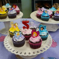 Cupcakes Princess themed 5th birthday & painting party.