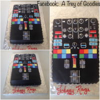 Dj Circuit Board 9x13 DJ Circuit Board cake. Iced in buttercream icing. Trimmed in Fondant