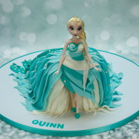Elsa Birthday Cake Elsa doll dress cake. Her dress train is the cake. I used a couple of tutorials sold by the Ipoh Bakery in Malaysia. Lemon cake with...