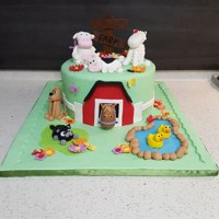 Farm Themed Cake Did this Farm themed cake for a childs birthday and I have to say that I am quiet pleased with how it turned out! :)
