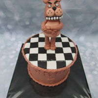 Five Nights At Freddy's A birthdaycake based on the game Five Nights at Freddy's