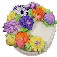 Flower Cake Flowers of all kinds. Russian tips etc.