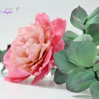 Free Formed Gumpaste Peony   Free formed gum paste Peony- no cutters or templates used to make it.