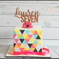 Geometric Girly Geometric cake
