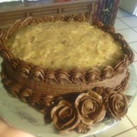 German Chocolate Cake With Roses German Chocolate Cake with Chocolate BC Roses.