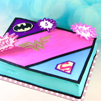 Girl Superhero Cake Girl superhero cake