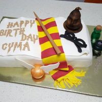 Harry Potter Themed Cake One of the cakes I enjoyed making a lot. Harry Potter fan all the way !