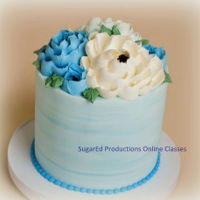 Jumbo Buttercreal Flowers All BC cake featuring flowers on the top. Thanks for looking!