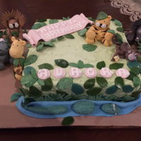 Jungle Cake Birthday cake for 2 year old girl.