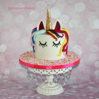 Magical Unicorn Birthday Cake.   Magical unicorn birthday cake.
